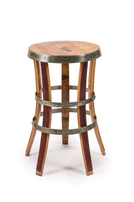 Elegant Whiskey Barrel Bar Stool
