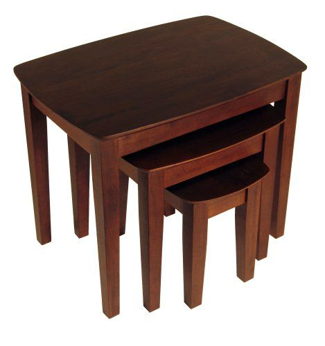 Winsome Wood Nesting Table Antique Walnut Read more reviews of
