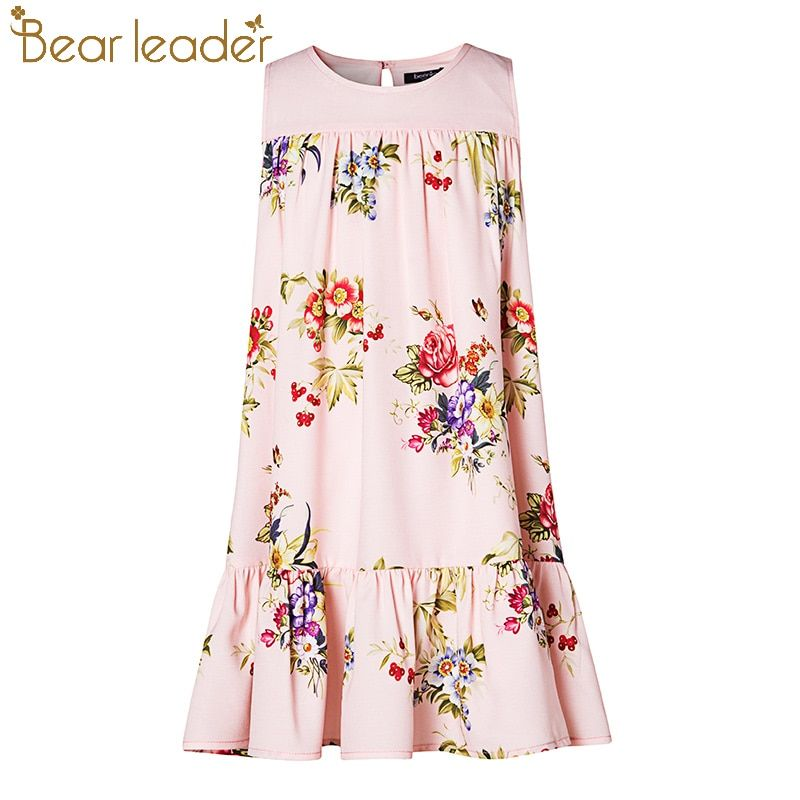 db915767f9b Bear Leader Girls Dress 2018 New Girls Dress European and American Style  Flowers Printing Girls Dress For 4-14 Years