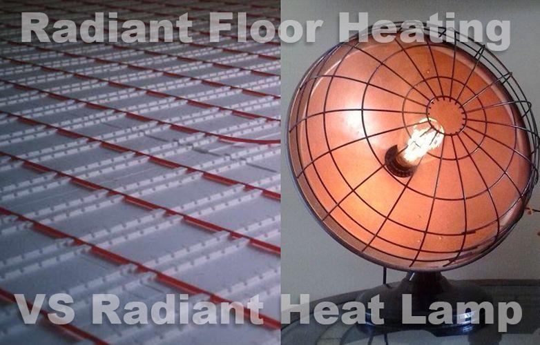 Warming up your washroom surfaces using radiant heat.