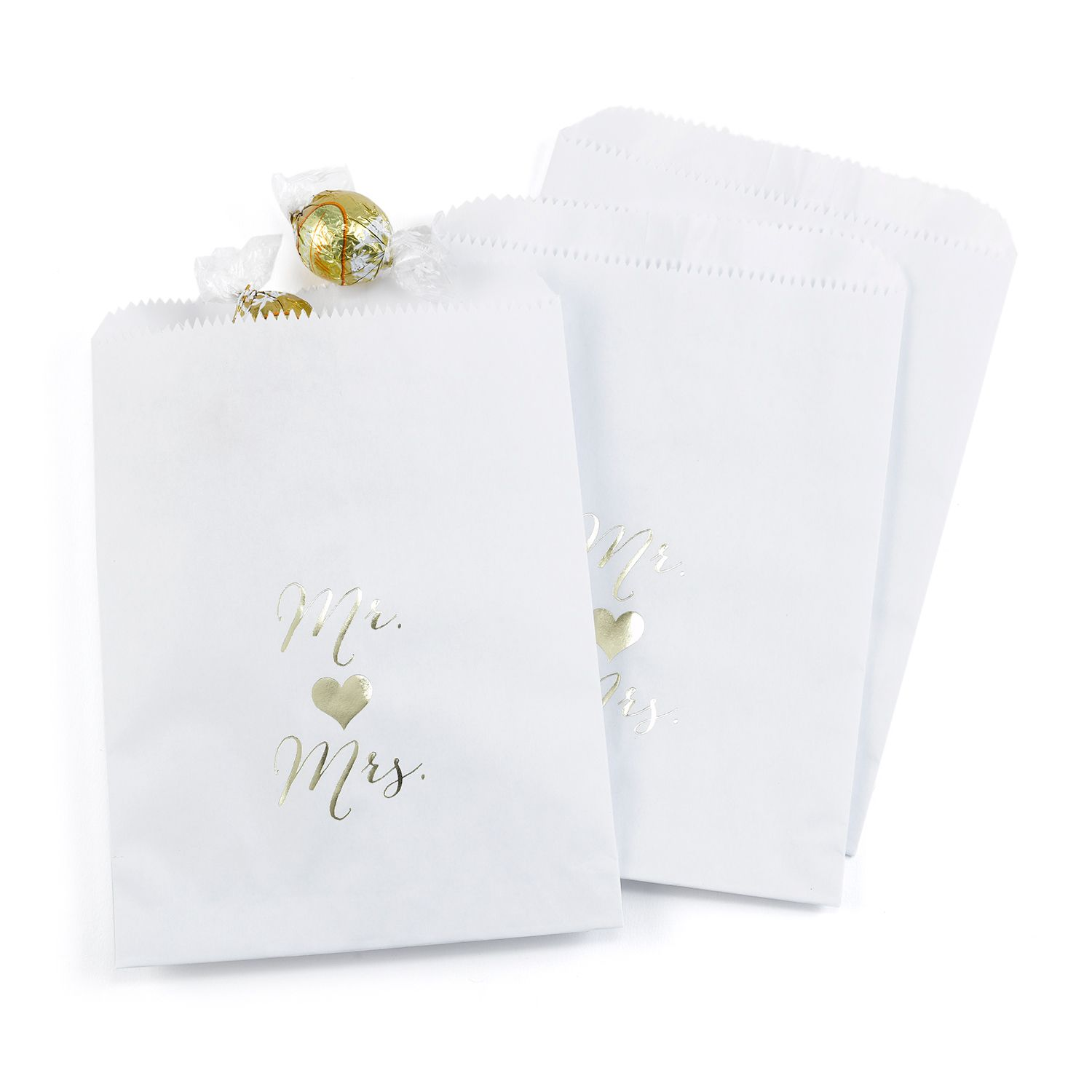 Mr. and Mrs. - Treat Bags - Design Only - White. Available at ...