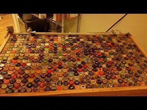 Homebrewing DIY: Finishing a beer cap bar top w/ epoxy ...