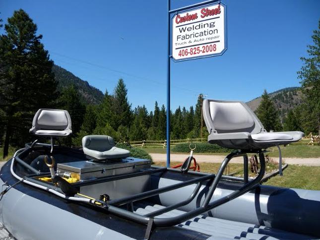 Custom street all metal fabrication makes lightweight for Best fly fishing raft