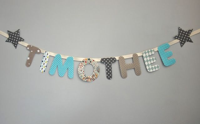 Rose & Blue                              La boutique: Guirlande prénom lettres arrondies