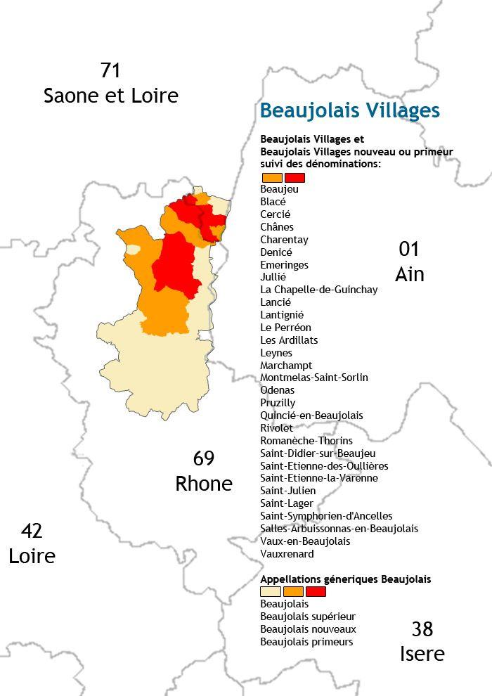 Carte Des Vins Du Beaujolais Villages Carte Des Vins Vin Beaujolais Vin De Bourgogne