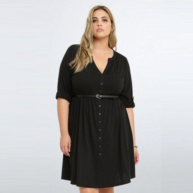 New 2017 Summer Dress Half Sleeve Big Size Women Dress Casual fice