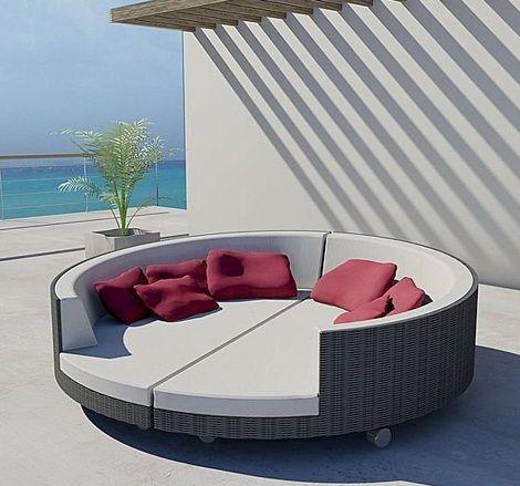 Die Inselsammlung Verfügt über Eine Kreisförmige Sofagarnitur. Koordinieren  Sie Schicke Gartenliege Mit Stil. Freistehendes Bett Praktische  Konstruktion.