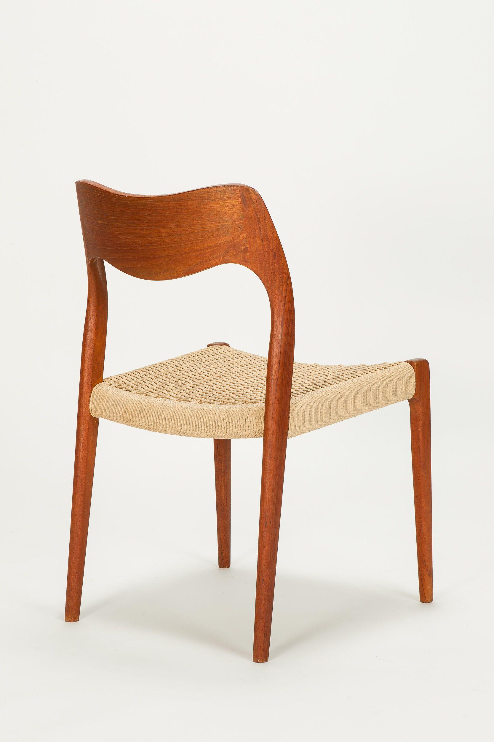 Niels O M¸ller Teak Chair No 71 for J L M¸llers M¸belfabrik 1954