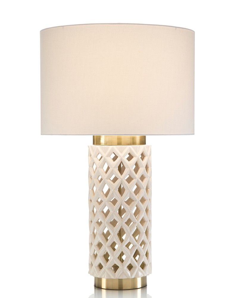 Ceramic Latticework Table Lamp Portable Lighting Lighting
