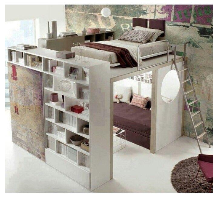Turbo Bett begehbarer Kleiderschrank Cube | ROOM | Bedroom loft, Girl WG07