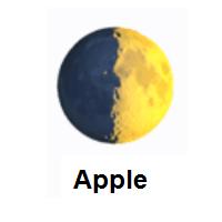First Quarter Moon Emoji In 2020 Moon Emoji Emoji Emoji Design