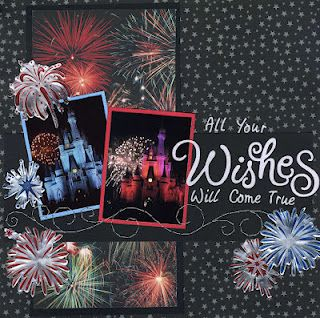 Another way to use stencils with your scrapbook pages--I made these metal fireworks. Super simple!