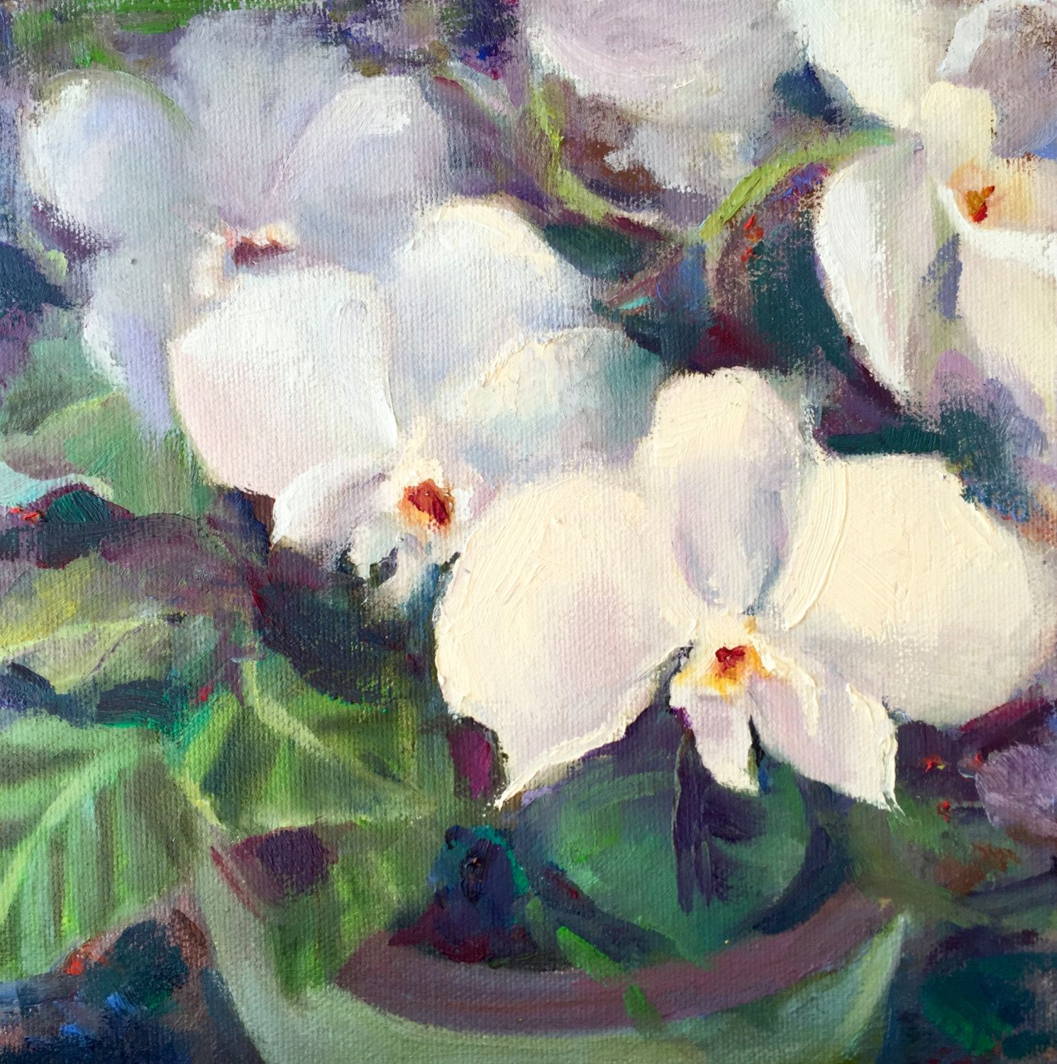 simple orchids paintings - HD1490×1500