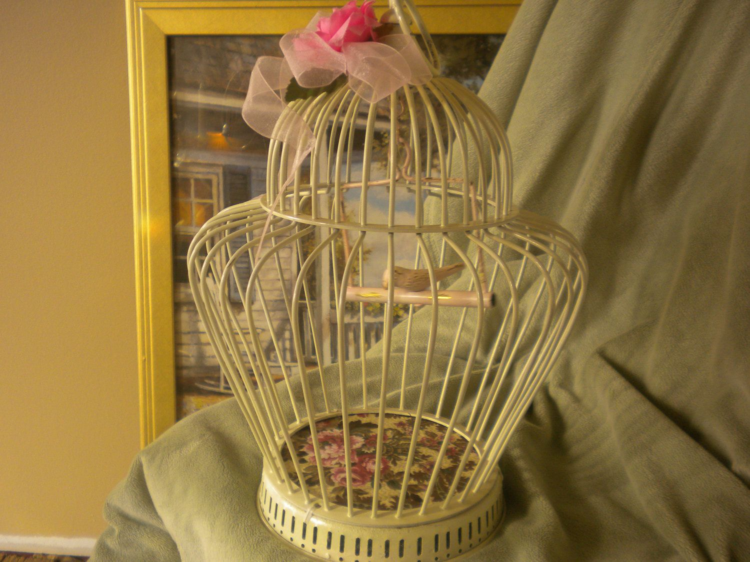 Upcycled Brass Bird Cage Brass Upcycled French Country Shabby Chic