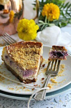 Meyer Lemon Blueberry Cheesecake #lemonblueberrycheesecake