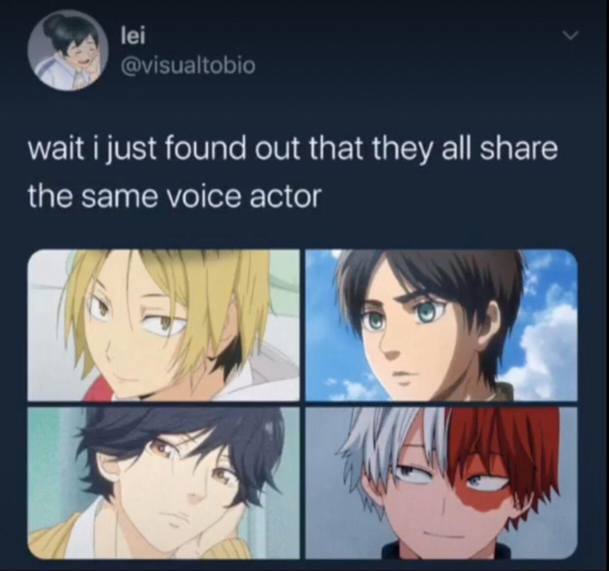 My Eyes Are Busy Anime Funny Cute Anime Guys Haikyuu Voice Actors