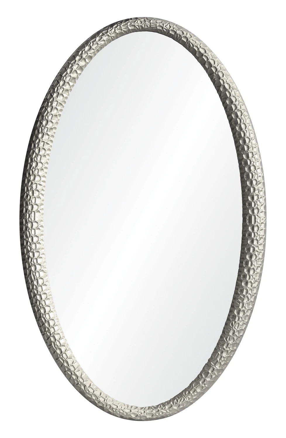 Jamie Drake Carved Oval Mirror Silver Leaf In 2020 Oval Mirror