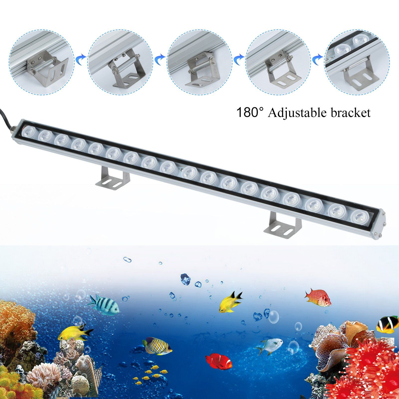 Toplanet LED Aquarium Light Bar 33 Inch Aquarium Light Strip Blue