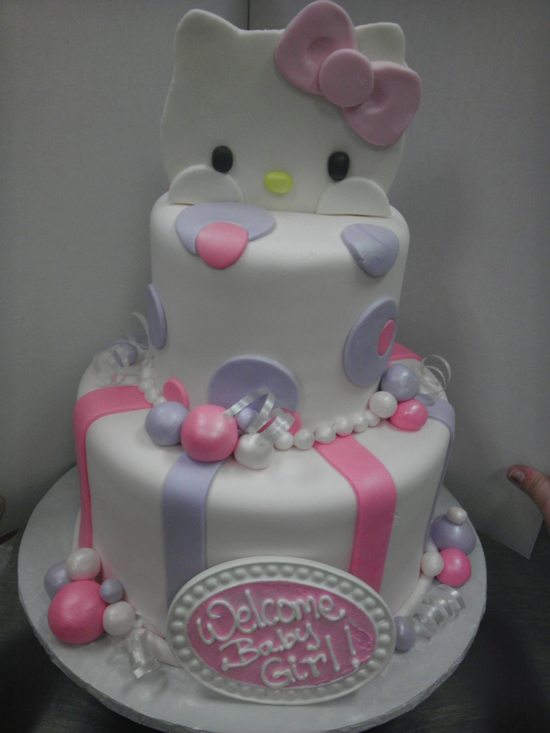 Hello Kitty baby shower cake Cakes Pinterest