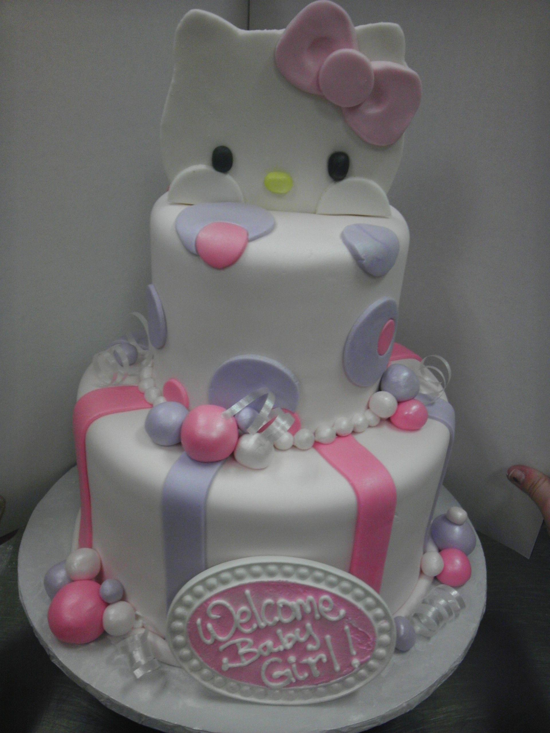 Hello Kitty Baby Shower Cake : hello, kitty, shower, Marie, Brault, Cakes, Hello, Kitty, Shower,, Baby,, Shower, Decorations