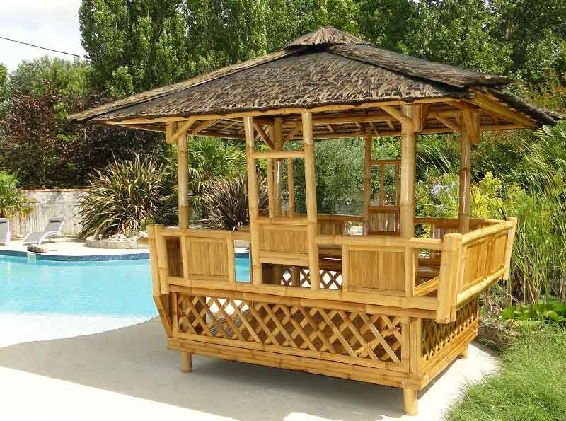 Décoration bambou paillote jardin panay nipahut | Artisanats en ...