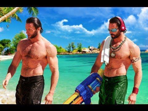 Hugh Jackman's transformation into Pool Party