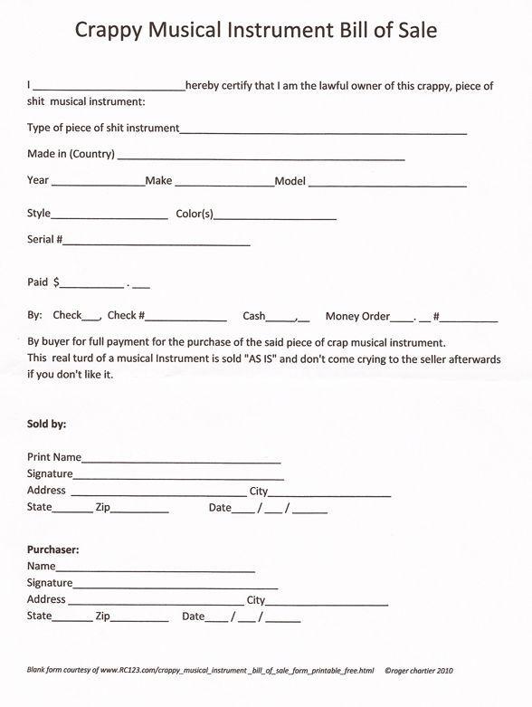 Printable Sample Bill Of Sale Pdf Form   75maingroup/rent