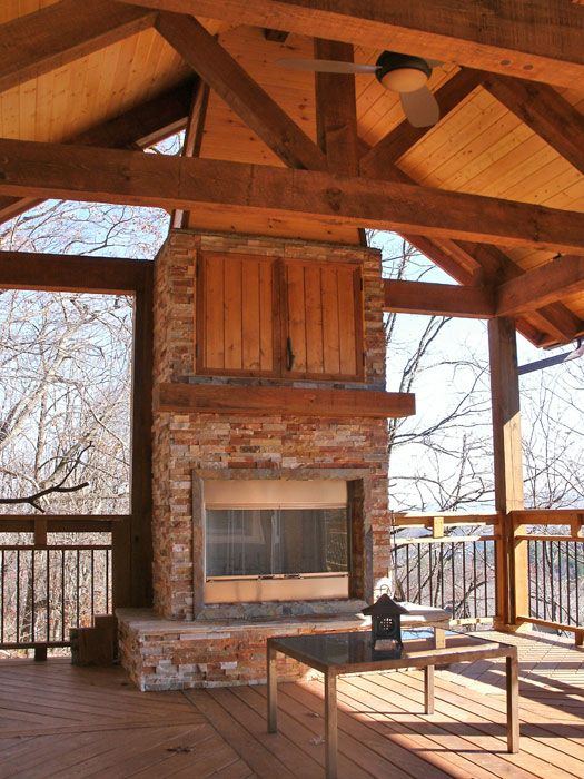 outdoor covered high deck with fireplace covered deck with rh pinterest com covered deck with fireplace cost covered deck with fireplace cost