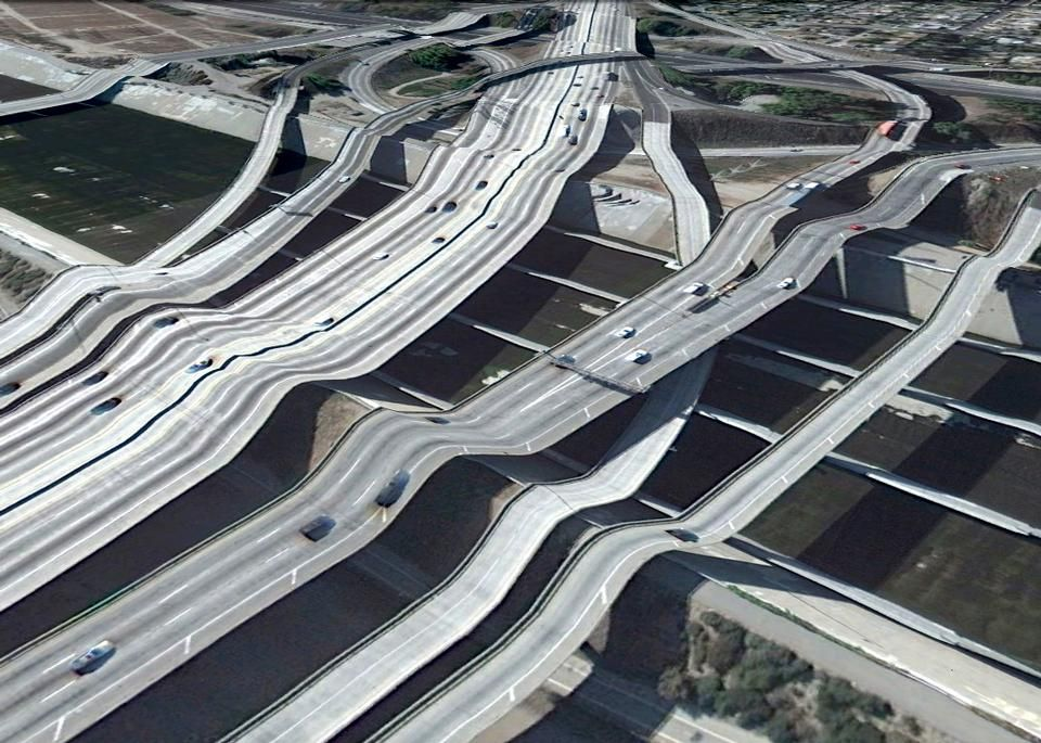contemporary art made from Google Maps