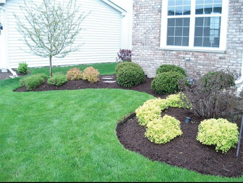 Front Yard Landscaping Ideas With Mulch Part - 16: Front Yard Landscaping Ideas With Black Mulch Black Mulch Landscaping  Pictures Popular Home Designs Image