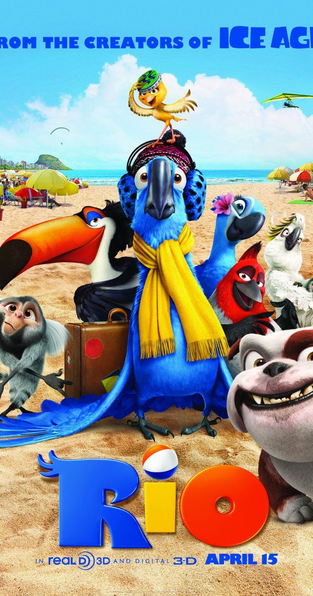 Rio (2011) Directed by Carlos Saldanha.  With Jesse Eisenberg, Anne Hathaway, George Lopez, Karen Disher. When Blu, a domesticated macaw from small-town Minnesota, meets the fiercely independent Jewel, he takes off on an adventure to Rio de Janeiro with this bird of his dreams.