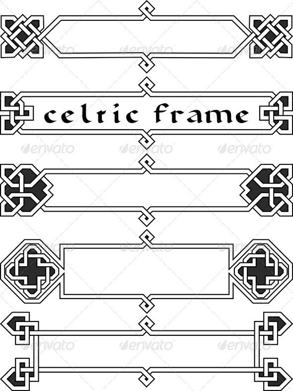 Set Celtic Frame An Element Of Design In The Irish Style