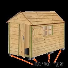 plan cabane bois de jardin abri jardin