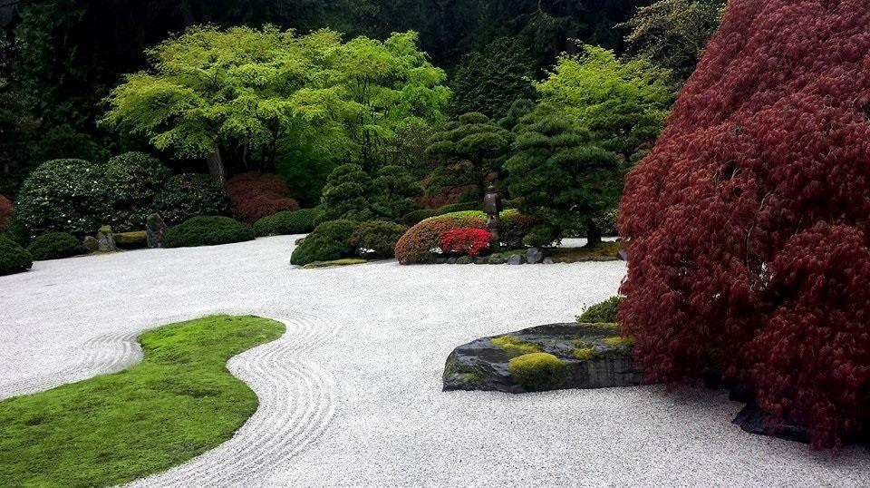 Japanese Gardens, near the art exhibit. Portland