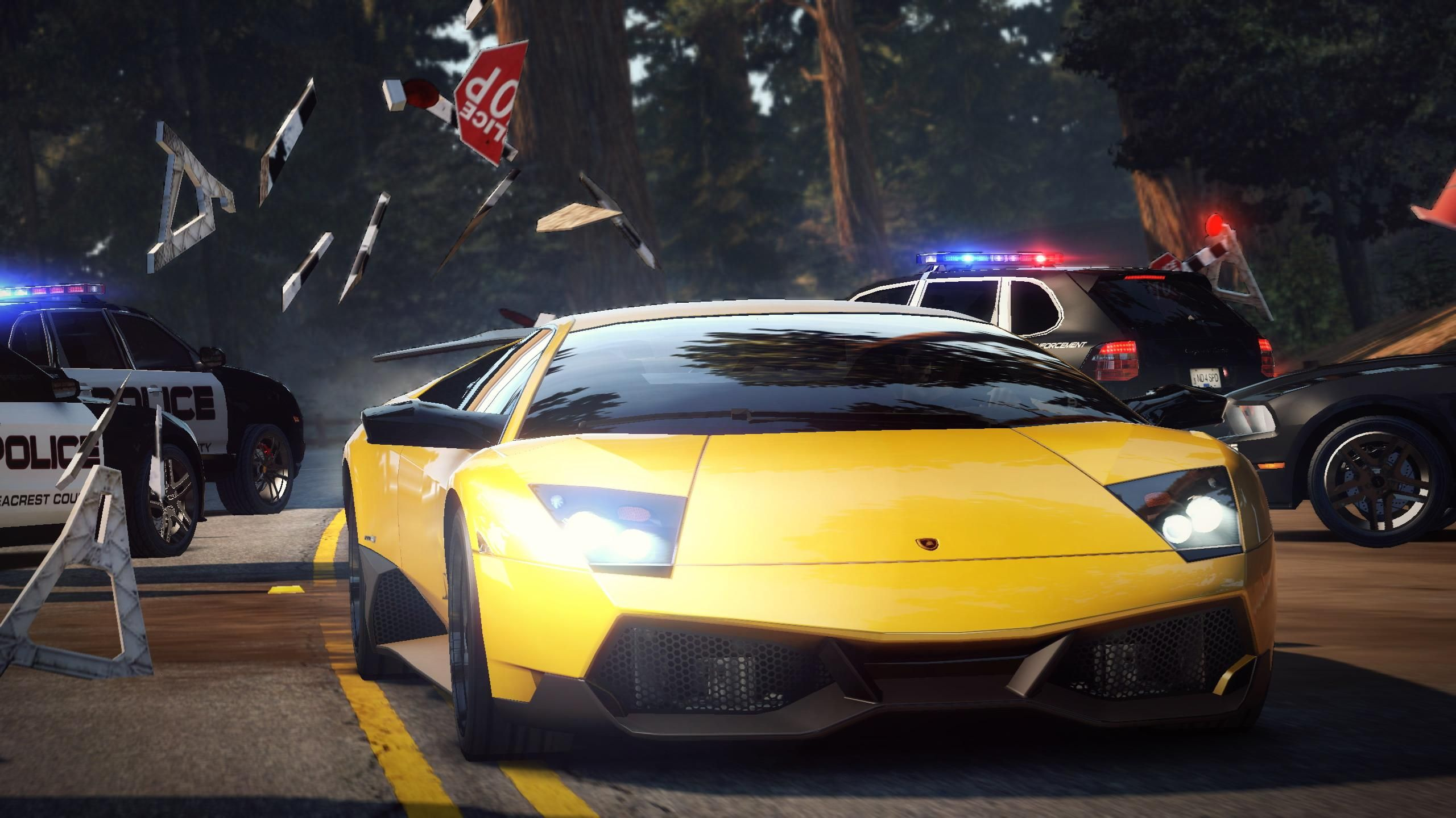 3 High Resolution Images/wallpapers Of Lamborghini Reventon In Latest Need  For Speed Hot Pursuit Game :