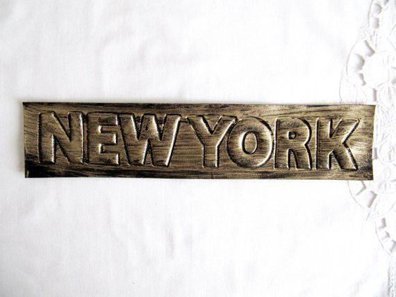 Relief new york new york patch antique gold new york letter sew on