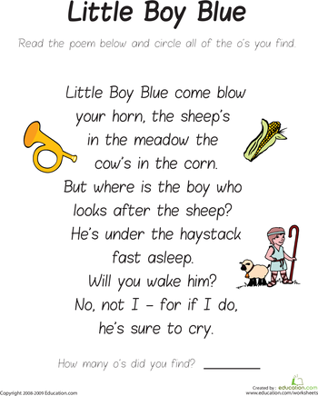 Find the Letter O: Little Boy Blue | Pinterest
