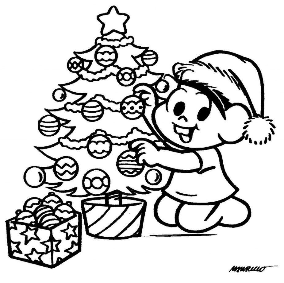 árvores De Natal Para Imprimir E Pintar Monica Para