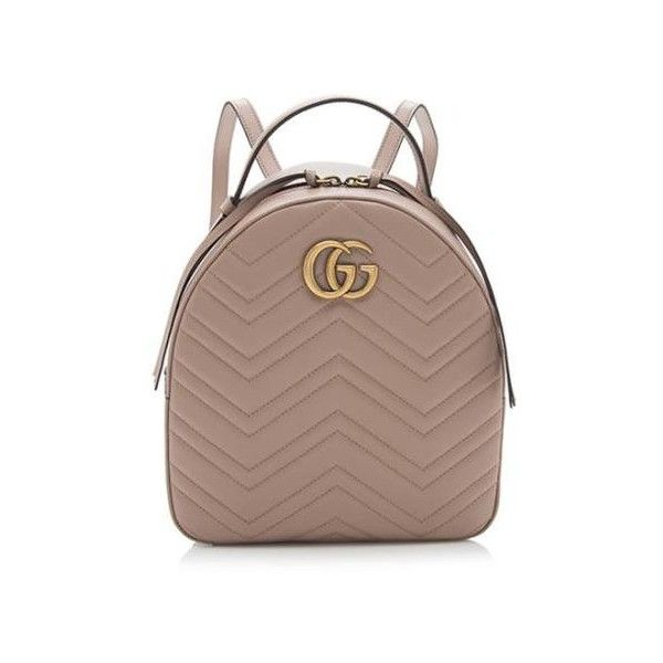 Rental Gucci Matelasse Leather GG Marmont Mini Backpack (665 BRL) ❤ liked  on Polyvore