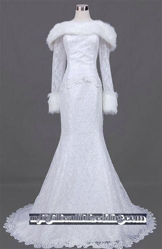 Fur Bridesmaid Dress