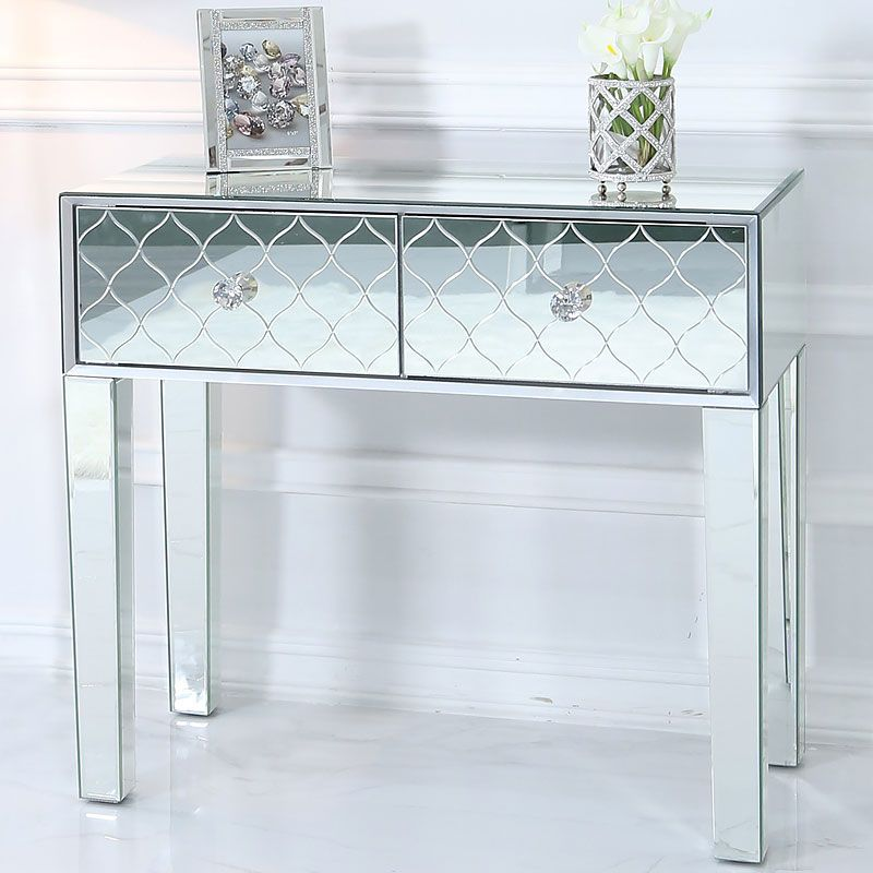 Moresque Silver Mirrored Moroccan 2 Drawer Console Table In 2020 Console Table Console Table Decorating Modern Console Tables