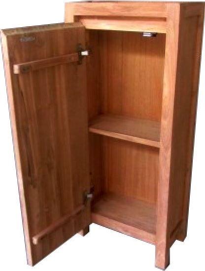 Teak Badkamer WC toilet kast Rotterdam 1 deur 40w22d90h cm   Pinterest