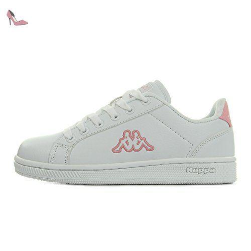 Kappa Court Glory, Sneakers Basses Femme, Blanc (White/Rosé), 40 EU