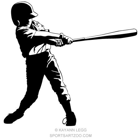 Little League Baseball Hitter Sportsartzoo Little League Baseball Little League Baseball Design
