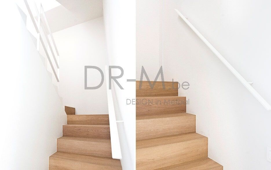 Moderne trapleuning houten trap trapbekleding in