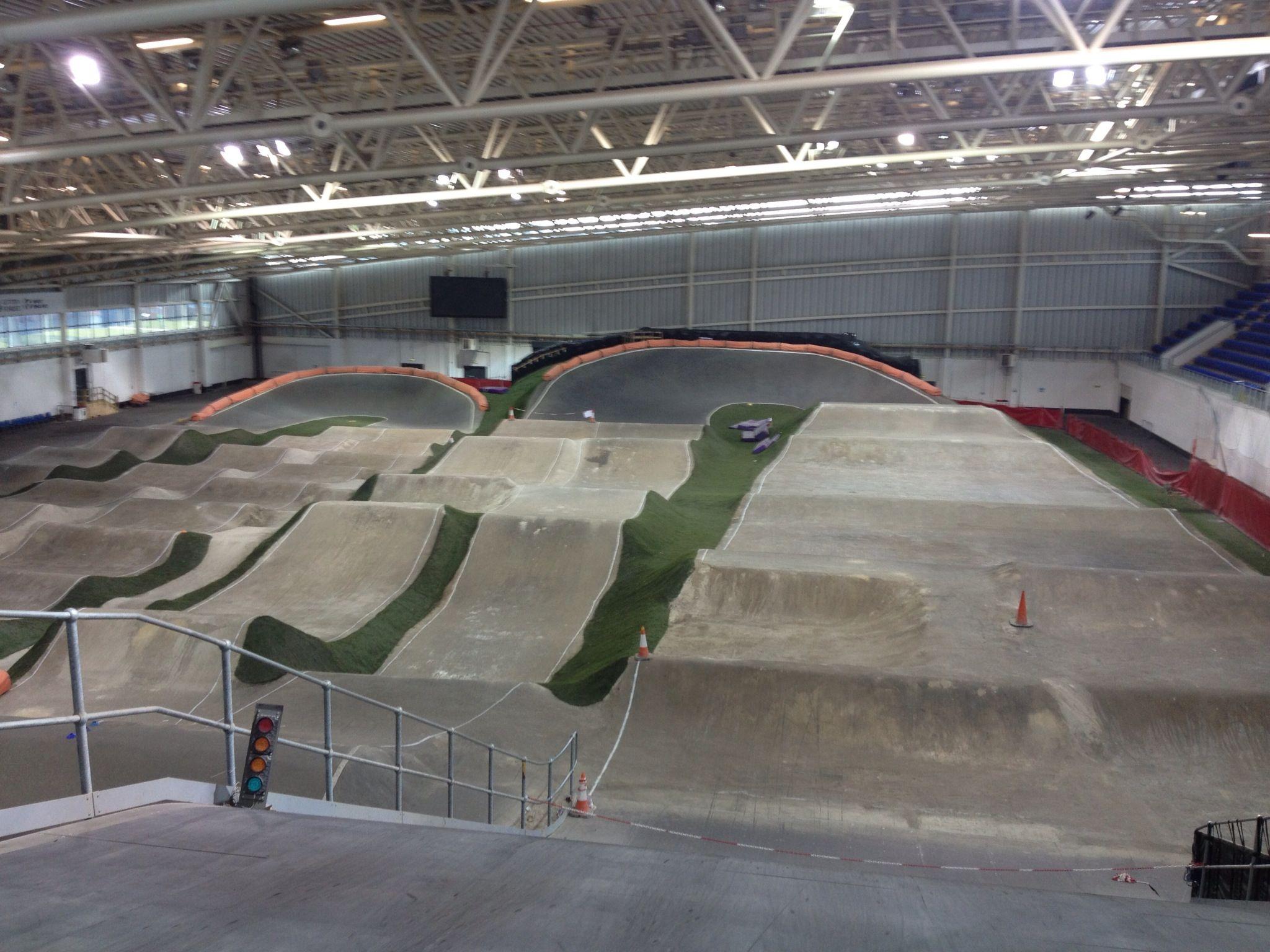 indoor bmx tracks national bmx centre sir robert mcalpine