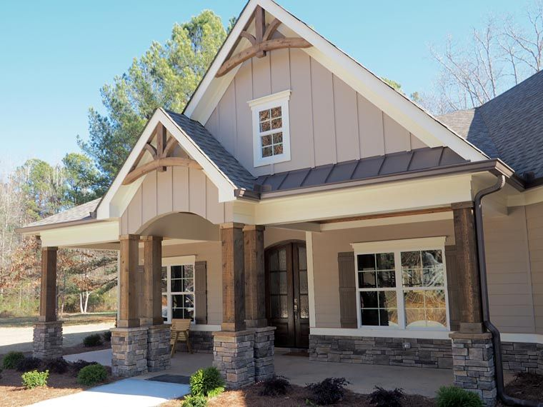 Craftsman Style House Plan Number 58254 with 4 Bed 3 Bath