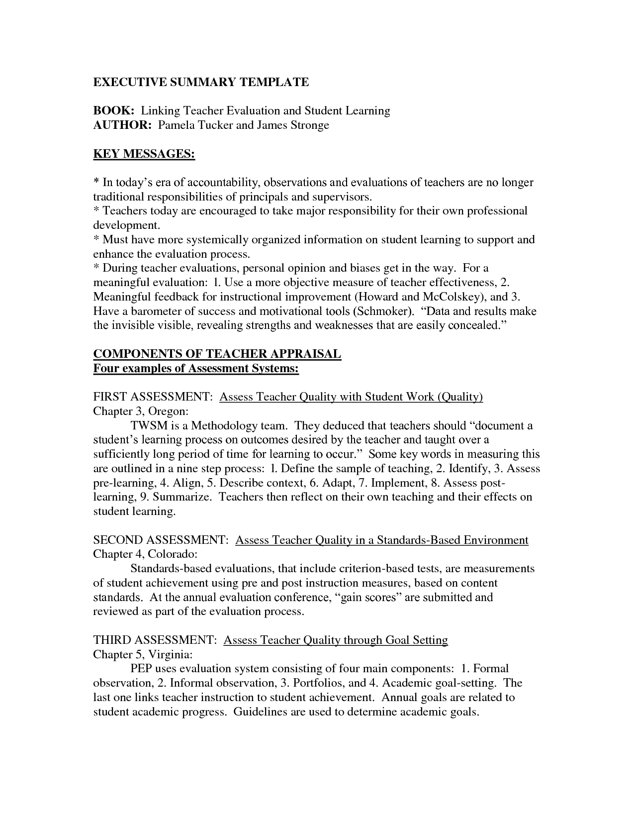 Word Executive Summary Template Resume Example Samples Pdf  Home