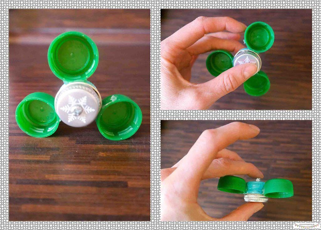 Hand Fidget Spinner Einfach Aus Flaschendeckeln Selberbauen Bauanleitung Tutorial By Www Missmommypenny De Diy Flaschendeckel Flaschen Haushalts Tipps