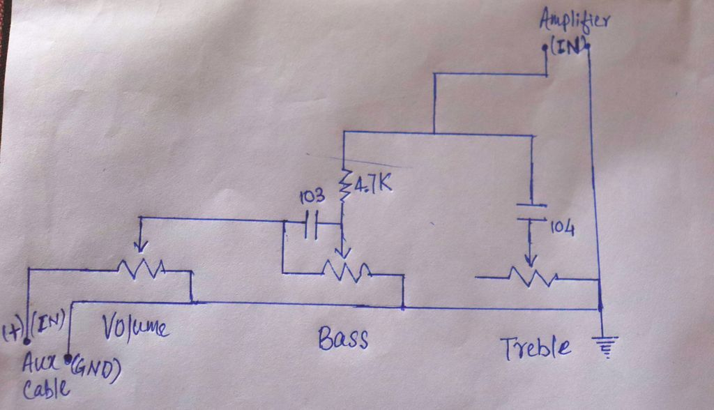 Volume Bass And Treble Circuit In Audio Amplifier Audio Amplifier Amplifier Circuit